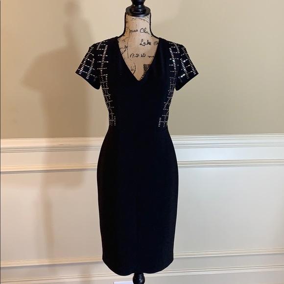 Joseph Ribkoff Dresses & Skirts - Joseph Ribkoff Silver Embellished Sheath Dress